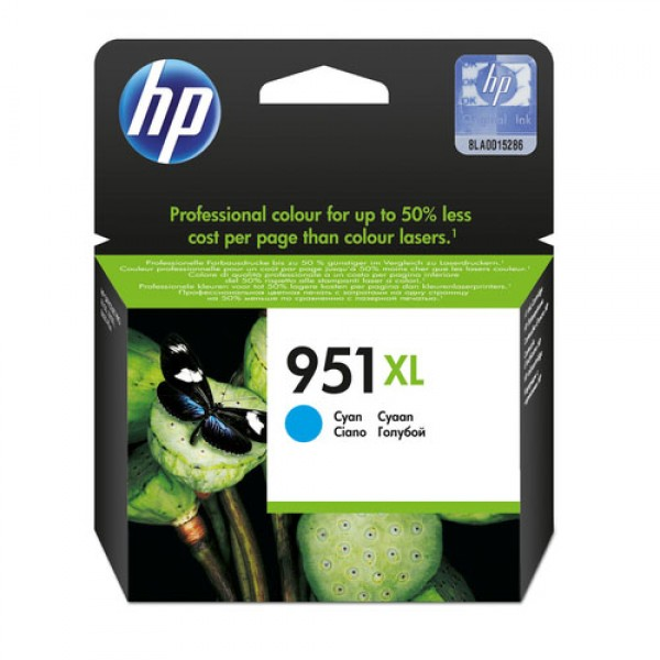 Cartouche d'encre Cyan Original HP CN046AE (HP 951XL)