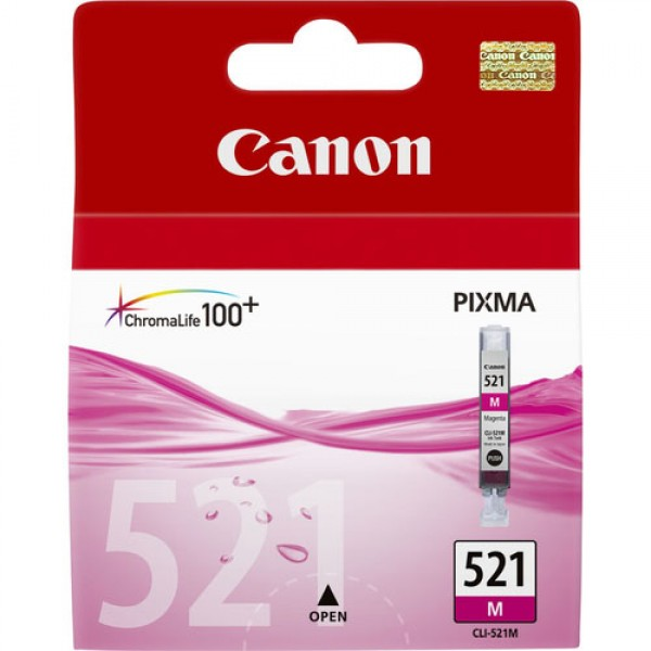 Cartouche d'encre Magenta Original Canon 2935B001 (CLI-521M)