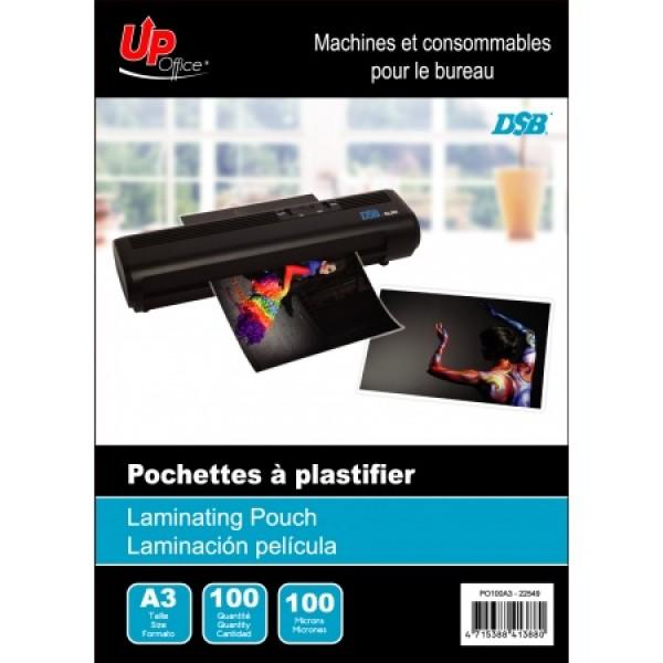 100 Pochettes A3 100mm pour Plastifieuse