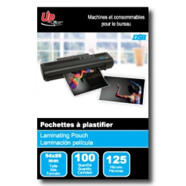 100 Pochettes format carte de crédit 125mm pour Plastifieuse