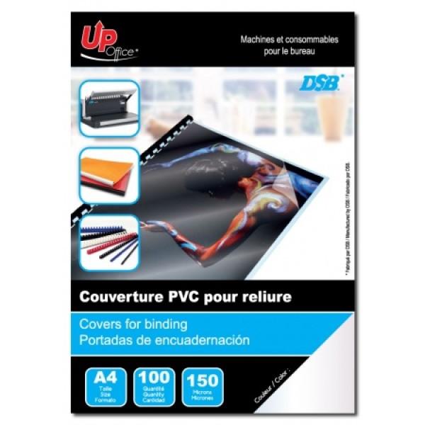 100 Couvertures Transparentes PVC A4 150mm