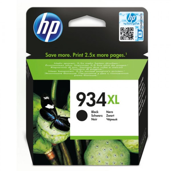 Cartouche d'encre Noir Original HP C2P23AE (HP 934XL)