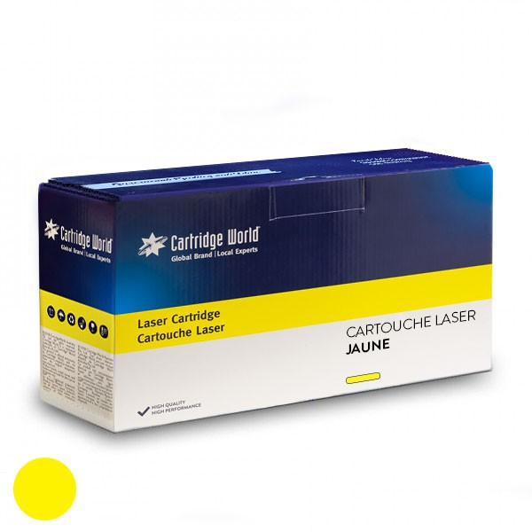 Cartouche de toner Jaune Cartridge World compatible HP CE742A