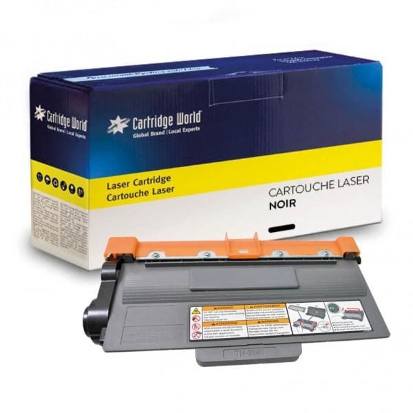 Cartouche de toner Noir Cartridge World compatible Brother TN-3380 / TN-3330 / TN-3390
