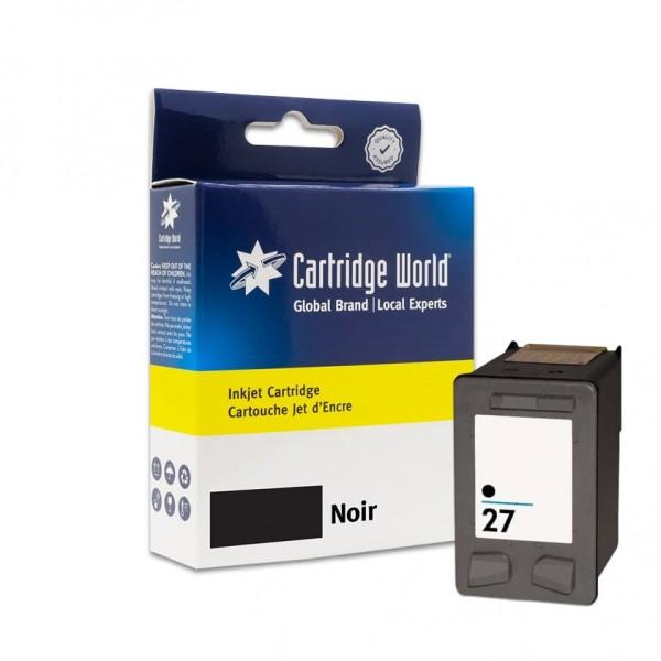 Cartouche d'encre Noir Cartridge World compatible HP 27 (C8727AE)