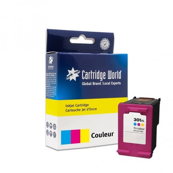 Cartouche d'encre 3 couleurs Cartridge World compatible HP 301XL (CH564EE)