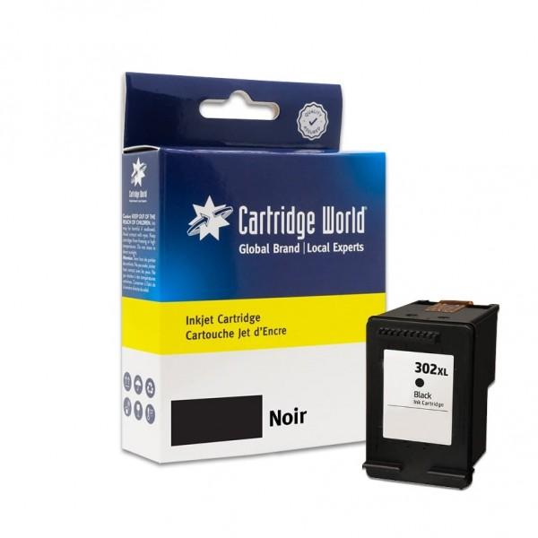 Cartouche d'encre Noir Cartridge World compatible HP 302XL (F6U68AE-N)
