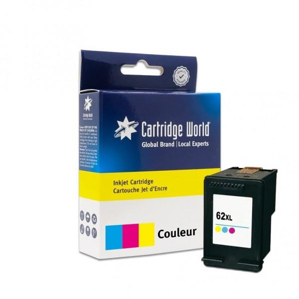 Cartouche d'encre 3 couleurs Cartridge World compatible HP 62XL (C2P07AE)