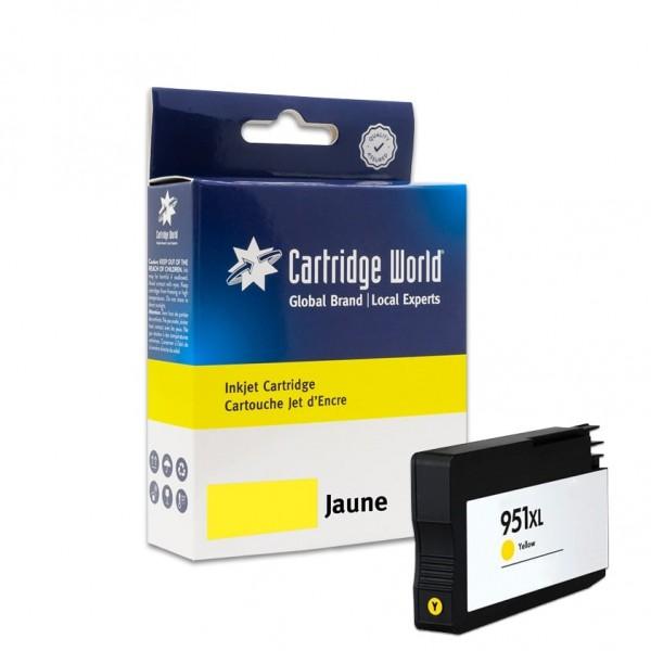 Cartouche d'encre Jaune Cartridge World compatible HP 951XL (CN048AE)