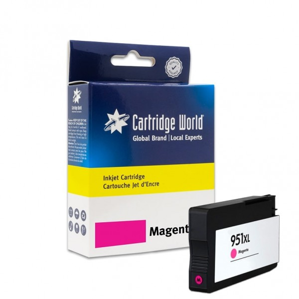 Cartouche d'encre Magenta Cartridge World compatible HP 951XL (CN047AE)
