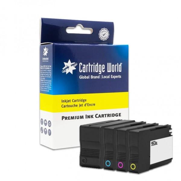 Cartouches d'encre pack (4 couleurs) Cartridge World compatible HP953XL