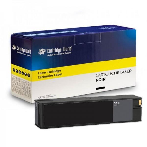Cartouche d'encre noir Cartridge World compatible HP973X Pagewide