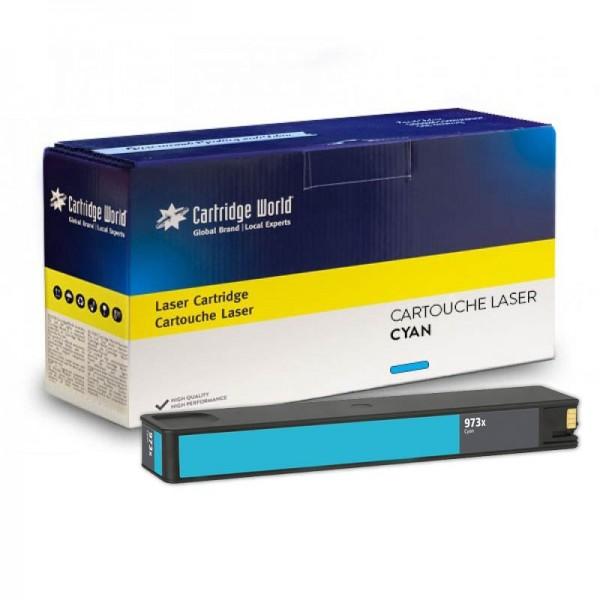 Cartouche d'encre cyan Cartridge World compatible HP973X Pagewide