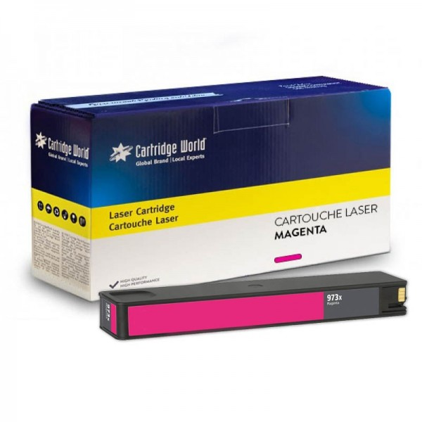 Cartouche d'encre magenta Cartridge World compatible HP973X Pagewide