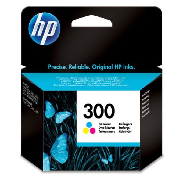 Cartouche d'encre 3 couleurs Original HP CC643EE (HP 300)