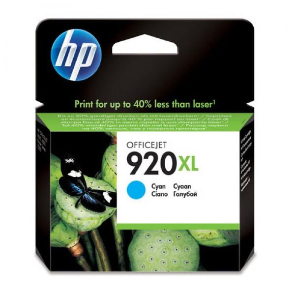 Cartouche d'encre grande capacité Cyan Original HP CD972AE (HP 920XL)