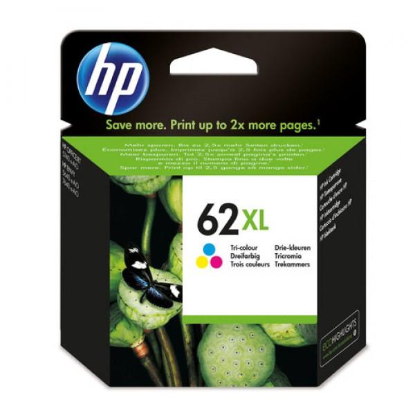 HP 62XL cartouche d'encre trois couleurs grande capacité authentique