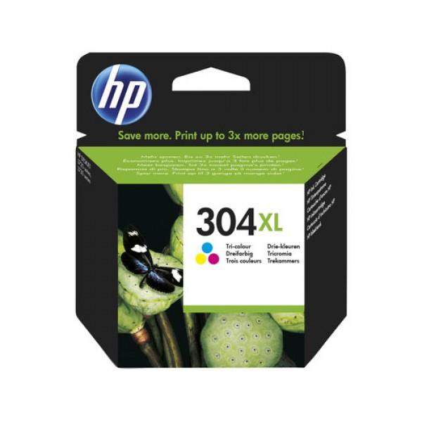 Cartouche d'encre 3 Couleurs Original HP N9K07AE (HP 304XL)