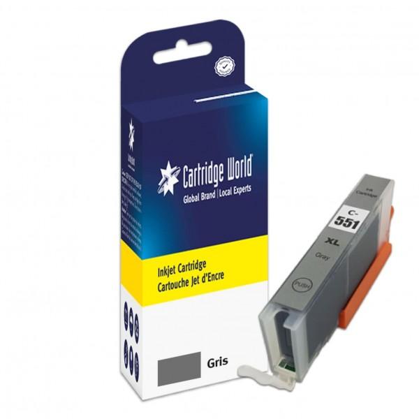 Cartouche d'encre Gris Cartridge World compatible Canon CLI-551XL