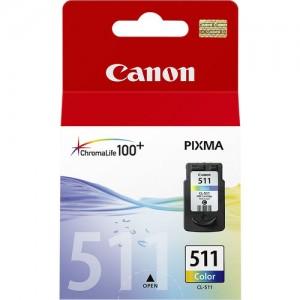 Pack de cartouches d'encre 3 couleurs (1 Cyan, 1 Magenta, 1 Jaune) Original Canon 2972B001 (CL-511)