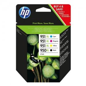 Pack de 4 cartouches d'encre grande capacité (1 noire, 1 cyan, 1 magenta, 1 jaune) Original HP C2P43AE (HP 950XL/951XL)