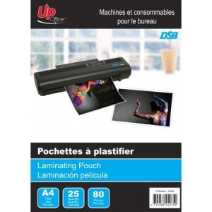 25 Pochettes A4 80mm pour Plastifieuse