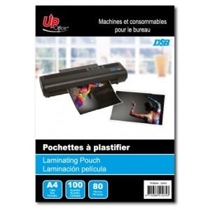 100 Pochettes A4 80mm pour Plastifieuse