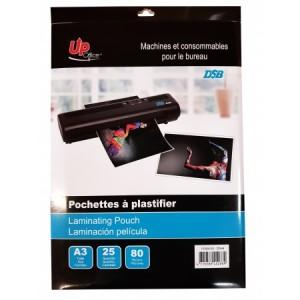 25 Pochettes A3 80mm pour Plastifieuse