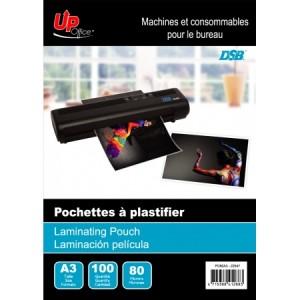 100 Pochettes A3 80mm pour Plastifieuse
