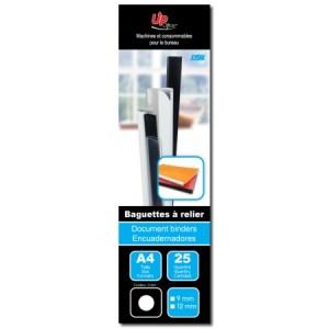 25 Baguettes à relier Transparent 9mm