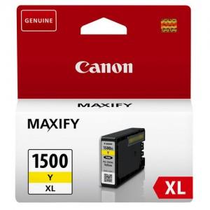 Cartouche d'encre Jaune Original Canon 9195B001 (PGI-1500XL Y)