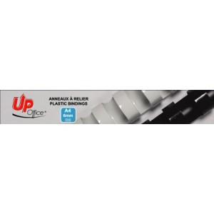 Anneaux plastiques 6mm - Blanc - Pack de 100