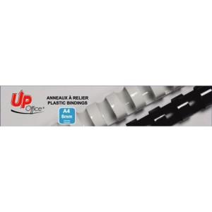 Anneaux plastiques 8mm - Blanc - Pack de 100