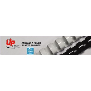 Anneaux plastiques 10mm - Blanc - Pack de 100