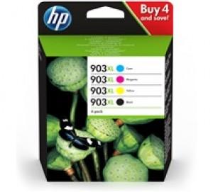 Pack de 4 cartouches d'encre BK+C+M+Y Original HP 903XL (3HZ51AE)