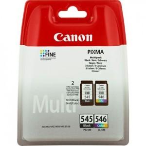 Pack de 2 cartouches d'encre BK + CL Original Canon PG-545 / CL-546