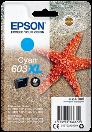 Cartouches d'encre Cyan Original Epson 603XL (C13T03