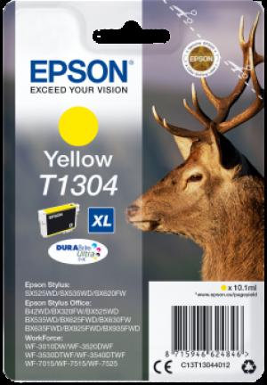 Cartouche d'encre Yellow Original Epson T1304XL Cerf