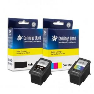 Pack de cartouches d'encre 1 BK +1 CL Cartridge World compatible Canon PG-540XL-CL-541XL