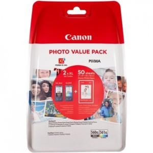 Pack XL de 2 cartouches d'encre (1 Noire. 1 Couleur ) Original Canon PG-560 CL-561