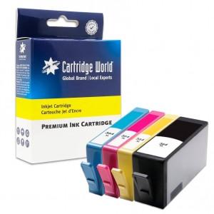 Pack de 4 cartouches d'encre BK+C+M+Y Cartridge World compatible HP 364XL (CN684/5/6/7)