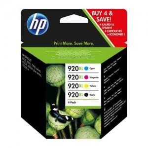 Pack de 4 cartouches d'encre grande capacité (1 noire, 1 cyan, 1 magenta, 1 jaune) Original HP C2N92AE (HP 920XL)