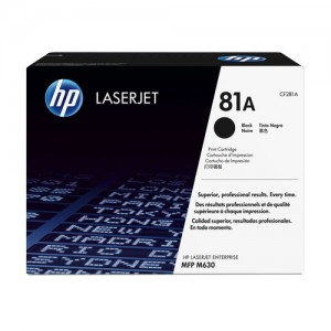 HP 81A toner LaserJet noir authentique