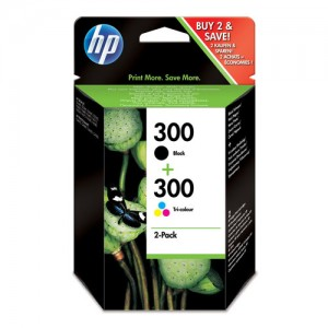 Pack de 2 cartouches d'encre (1 Noire. 1 Couleurs ) Original HP CN637EE (HP 300)