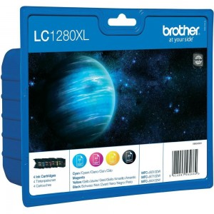 Pack de 4 cartouches d'encre (Noir,Cyan,Magenta,Jaune) Original Brother LC-1280XLVALBP