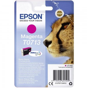 Cartouche d'encre magenta originale Epson C13T07134012 (T0713)