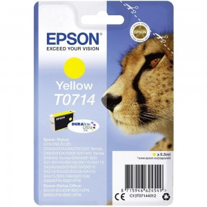 Cartouche d'encre jaune originale Epson C13T07144012 (T0714)