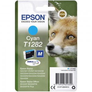 Cartouche d'encre Cyan Original Epson C13T12824012 (T1282)