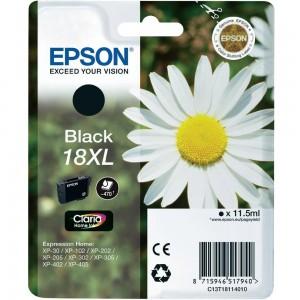 Cartouche d'encre Noir Original Epson C13T18114012 (18XL)