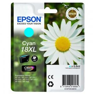 Cartouche d'encre cyan originale Epson C13T18124012 (18XL)